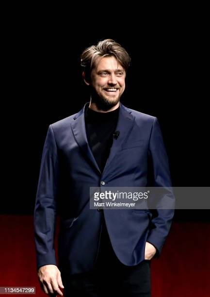 "Director Andy Muschietti speak onstage at CinemaCon 2019 Warner Bros Pictures Invites You to ""The Big Picture"" an Exclusive Presentation of its..."