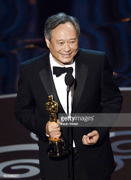 Director Ang Lee accepts the Best Director award for Life of Pi onstage during the Oscars held at the Dolby Theatre on February 24 2013 in Hollywood...