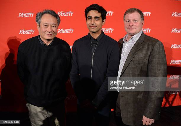 Director Ang Lee actor Suraj Sharma and screenwriter David Magee attend the 2012 Variety Screening Series of Life Of Pi at Mann Chinese 6 on November...