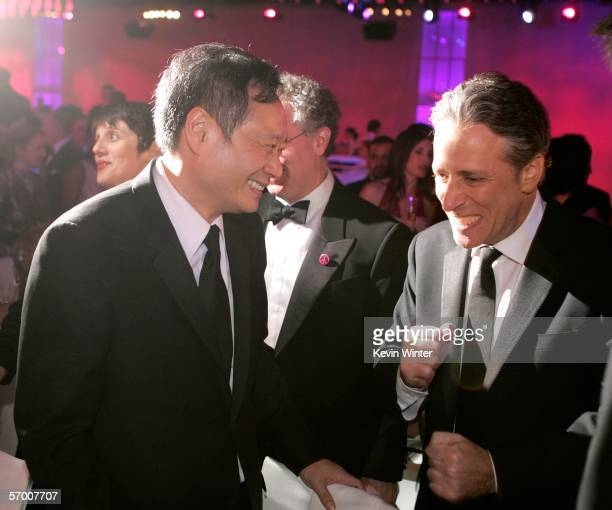 Director Ang Lee and actor Jon Stewart attend the Governor's Ball after the 78th Annual Academy Awards at The Highlands on March 5 2006 in Hollywood...