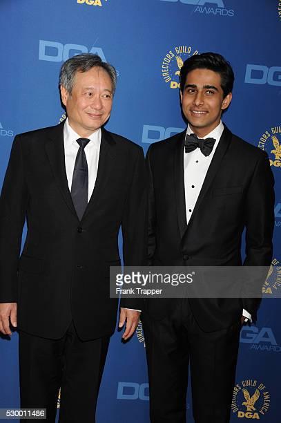 Director Ang Lee and actor Suraj Sharma arrive at the 65th Annual Directors Guild Awards held at the Ray Dolby Ballroom at Hollywood Highland
