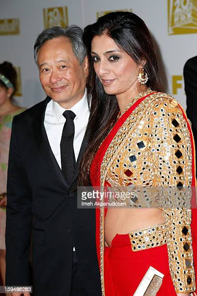 Director Ang Lee and actress Tabu attend the Fox Searchlight 2013 Golden Globe Awards Party on January 13 2013 in Beverly Hills California