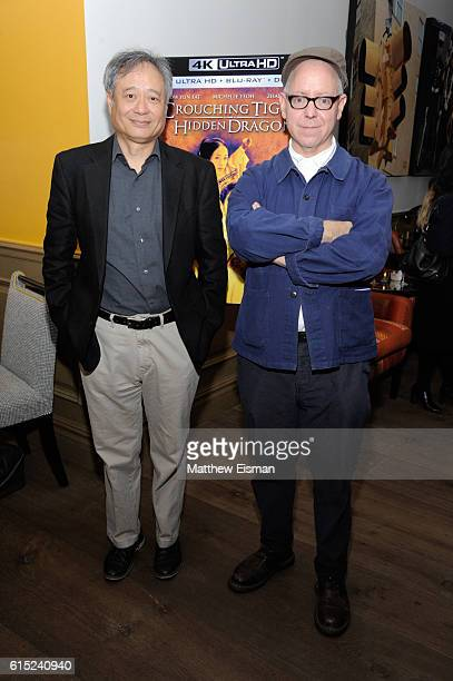 Director Ang Lee and screenwriter James Schamus pose together for a photo at the Crouching Tiger Hidden Dragon Screening and QA with Michael Barker...