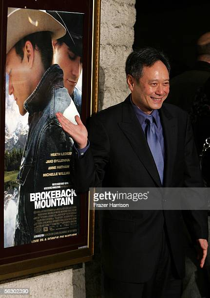Director Ang Lee arrives at the premiere of Brokeback Mountain at the Mann National Theater on November 29 2005 in Westwood California