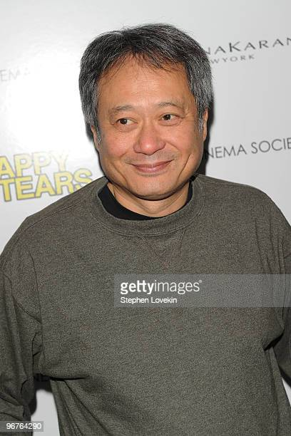 Director Ang Lee attends a screening of Happy Tears hosted by the Cinema Society and Donna Karan at The Museum of Modern Art on February 16 2010 in...