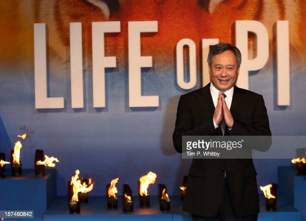 Director Ang Lee attends the UK Premiere of 'Life of Pi at Empire Leicester Square on December 3 2012 in London England