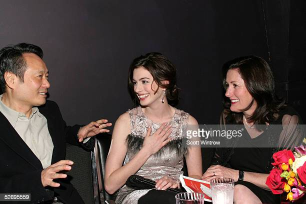 Director Ang Lee honoree Anne Hathaway and her mother Kate McCauley share a moment at The Barrow Group's 11th Annual Celebrity Scribbles and Doodle's...