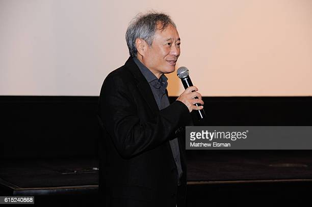 Director Ang Lee introduces the Crouching Tiger Hidden Dragon Screening celebrating the 4K Ultra HD release of the film at Crosby Street Hotel on...