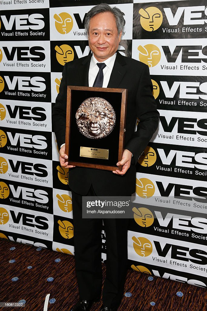 Director Ang Lee poses backstage after receiving the VES Visionary Award at the 11th Annual Visual Effects Society Awards at The Beverly Hilton Hotel on February 5, 2013 in Beverly Hills, California.
