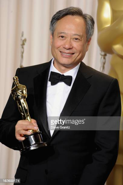 Director Ang Lee poses in the press room during the Oscars at the Loews Hollywood Hotel on February 24, 2013 in Hollywood, California.