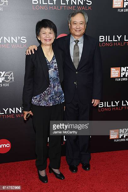 Director Ang Lee poses with his wife Jane Lin at the 'Billy Lynn's Long Halftime Walk' during 54th New York Film Festival at AMC Lincoln Square...