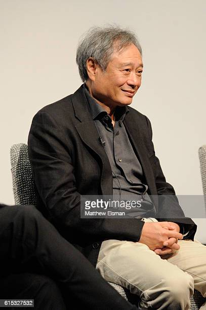 Director Ang Lee speaks on stage at the Crouching Tiger Hidden Dragon QA celebrating the 4K Ultra HD release of the film at Crosby Street Hotel on...