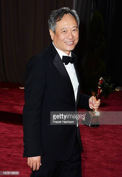 Director Ang Lee winner of the Best Director award for 'Life of Pi' departs the Oscars at Hollywood Highland Center on February 24 2013 in Hollywood...