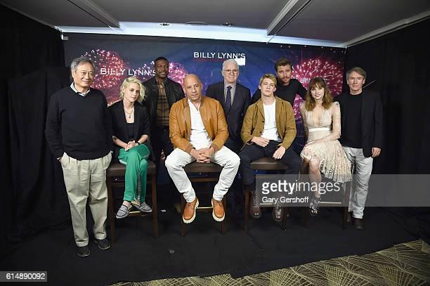 Director Ang Lee with actors Kristen Stewart Chris Tucker Vin Diesel Steve Martin Joe Alwyn Garrett Hedlund Makenzie Leigh and author Ben Fountain...