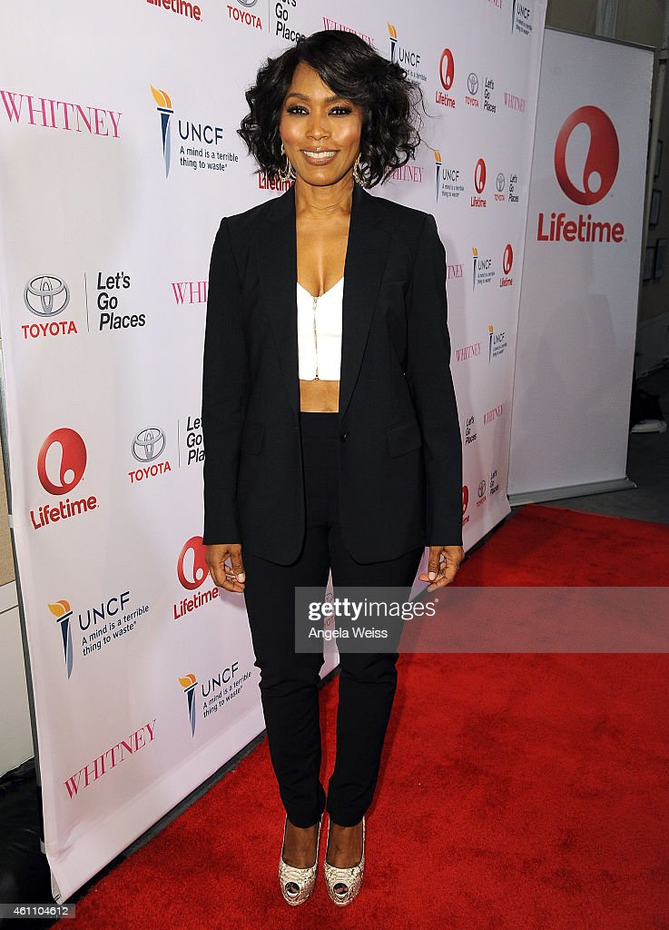 Director Angela Bassett arrives at the premiere of Lifetime's 'Whitney' at The Paley Center for Media on January 6, 2015 in Beverly Hills, California.