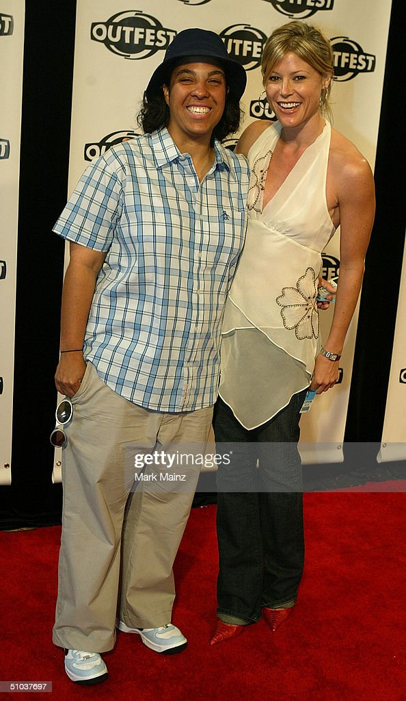 Director Angela Robinson (left) and actress Julie Bowen (right) attend the opening night gala of 'Outfest 2004: The 22nd L.A. Gay and Lesbian Film Festival' on July 8, 2004 at the Orpheum Theatre, in Los Angeles, California.