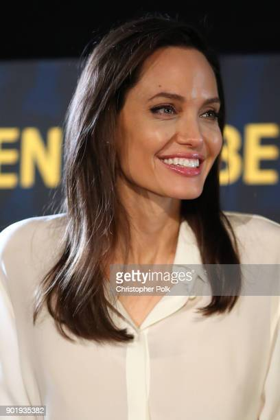 Director Angelina Jolie attends the symposium during the HFPA and American Cinematheque Present The Golden Globe ForeignLanguage Nominees Series 2018...