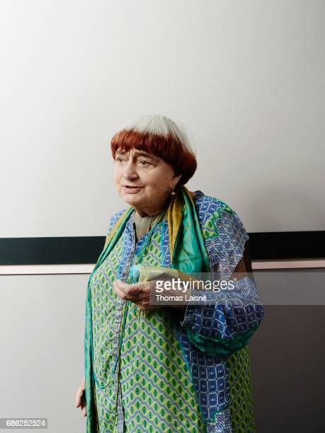 Director Anges Varda is photographed for Self Assignment on May 20 2017 in Cannes France