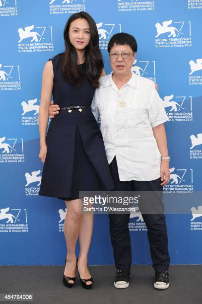 Director Ann Hui and actress Tang Wei attend 'The Golden Era' Photocall during the at Palazzo Del Casino on September 6 2014 in Venice Italy