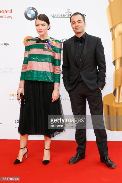 Director Anna Bederke and german actor Nikolai Kinski during the Lola German Film Award red carpet arrivals at Messe Berlin on April 28 2017 in...
