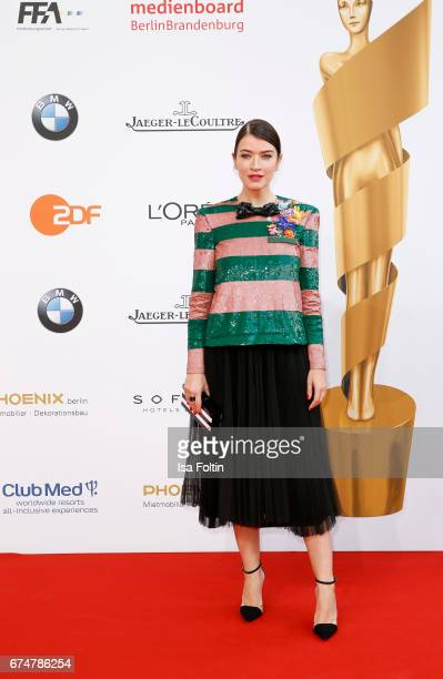 Director Anna Bederke during the Lola German Film Award red carpet arrivals at Messe Berlin on April 28 2017 in Berlin Germany