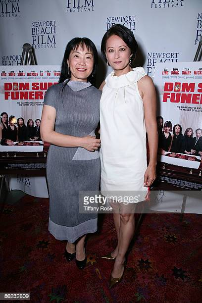 Director Anna Chi and actress Julia NicksonSoul attend the Dim Som Funeral on Day 3 of the 2009 Newport Beach Film Festival on April 25 2009 in...