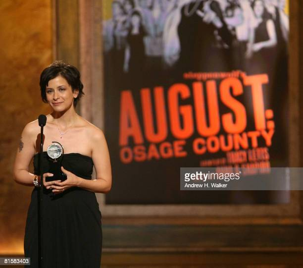 Director Anna D Shapiro accepts the Tony for Best Direction of a Play for 'August Osage County' onstage during the 62nd Annual Tony Awards held at...