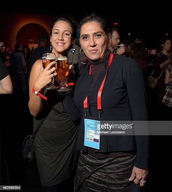 Director Anna Muylaert and actress Camila Mardila of 'The Second Mother' attend the Awards Night Party during the 2015 Sundance Film Festival at the...