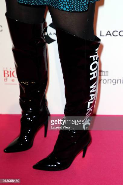 Director Anne de Petrini boot detail attends '25th Trophees du Film Francais' at Palais Brongniart on February 6 2018 in Paris France
