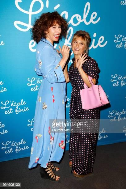 Director Anne Depetrini and Actress Berengere Krief attend L'Ecole est Finie Paris Premiere at UGC Cine Cite Bercy on July 9 2018 in Paris France
