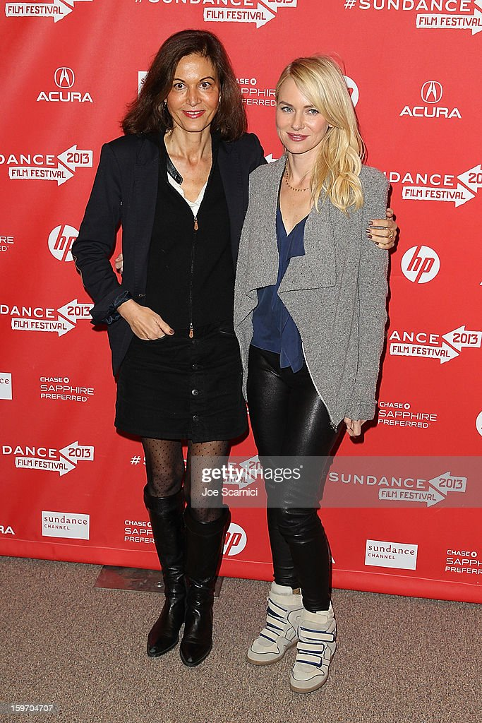 Director Anne Fontaine and Actor Naomi Watts arrive at the 'Two Mothers' Premiere at the 2013 Sundance Film Festival at Eccles Center Theatre on January 18, 2013 in Park City, Utah.