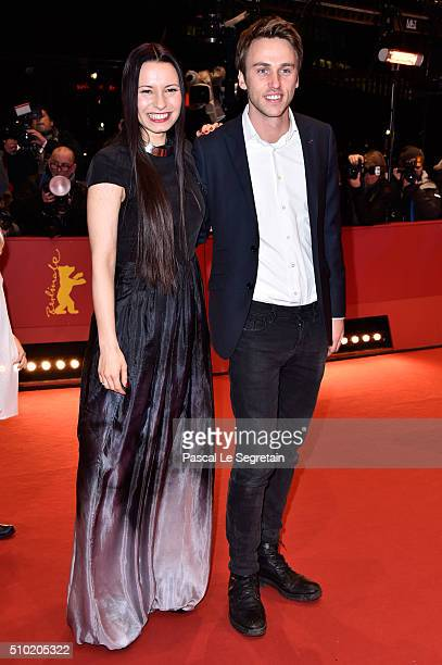 Director Anne Zohra Berrached and singer Clueso attend the '24 Wochen' premiere during the 66th Berlinale International Film Festival Berlin at...