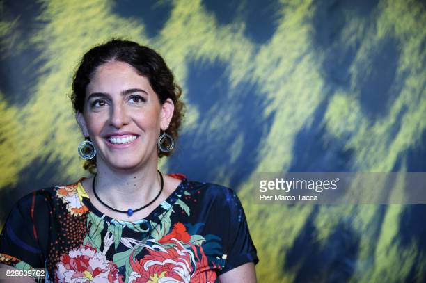 Director Annemarie Jacir attends the 'Wajib' photocall during the 70th Locarno Film Festival on August 5 2017 in Locarno Switzerland