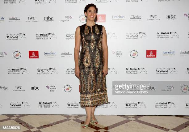 Director Annemarie Jacir attends the 'Wajib' red carpet on day five of the 14th annual Dubai International Film Festival held at the Madinat Jumeriah...