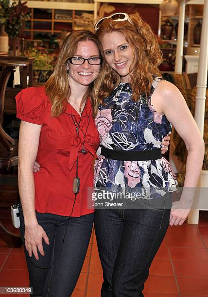 Director Annie Lukowski and actress Leyna Juliet Weber at a taping of 'Road To The Alter' at the Pier 1 Imports on March 20 2009 in Los Angeles...