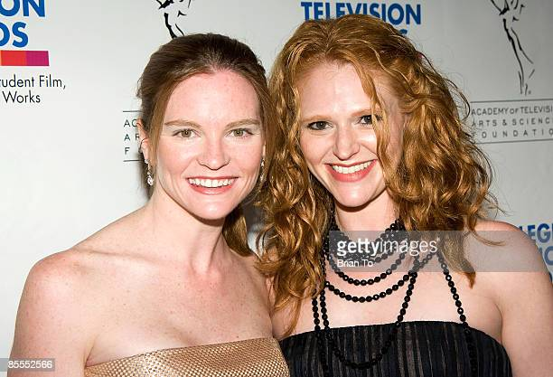 Director Annie Lukowski and actress Leyna Weber arrive at the 30th Annual College Television Awards Gala on March 21 2009 at The Culver Studios in...