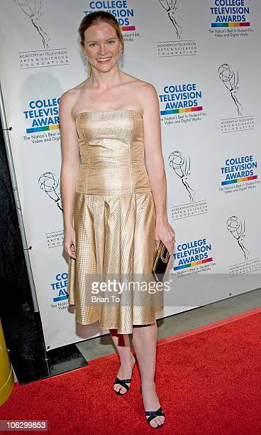 Director Annie Lukowski arrives at the 30th Annual College Television Awards Gala on March 21 2009 at The Culver Studios in Culver City California