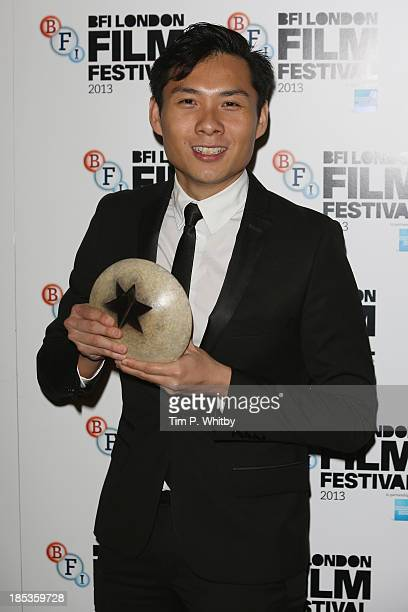Director Anthony Chen, winner of the Sutherland Award poses at the BFI London Film Festival Awards during the 57th BFI London Film Festival at...