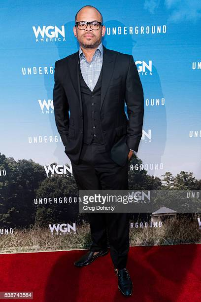 Director Anthony Hemingway attends the Screening And Panel For WGN America's Underground at the Landmark Theatre on June 7 2016 in Los Angeles...
