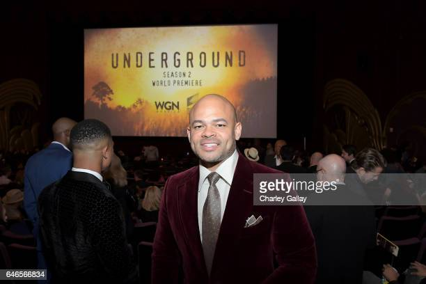 Director Anthony Hemingway attends WGN America's Underground Season Two Premiere Screening at Regency Village Theatre on March 1 2017 in Westwood...