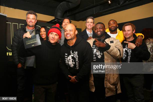 Director Anthony Hemingway Wavyy Jonez Marcc Rose and Jimmi Simpson attend the '20 Years Still Unsolved' Panel presented by USA Network UNSOLVED THE...