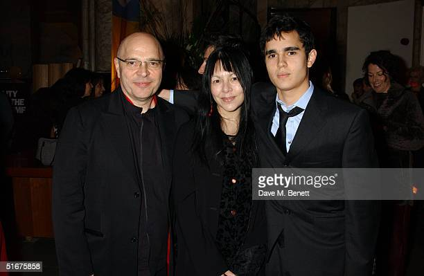 Director Anthony Minghella wife Carolyn Choa and son Max Minghella attend the afterparty following the Closing Gala of The Times BFI London Film...