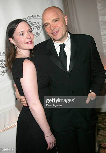 Director Anthony Minghella winner of the Best Adapted Screenplay Award for the film 'Cold Mountain' and daughter Hanna attend the National Board Of...