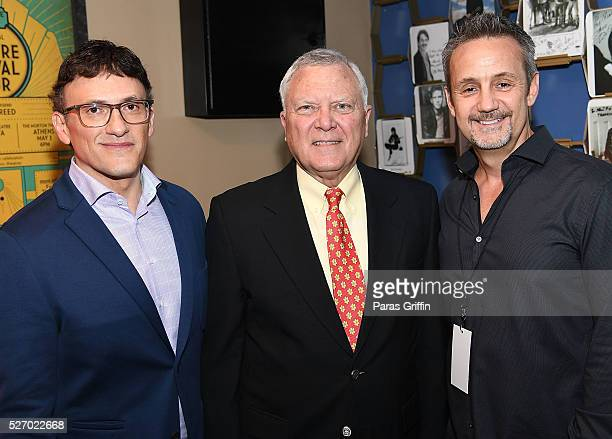 Director Anthony Russo Georgia Governor Nathan Deal and producer Mitch Bell backstage at 'Captain America Civil War' Atlanta Cast Filmmakers...