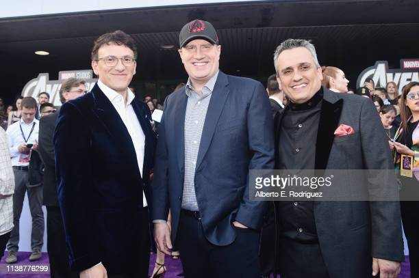 Director Anthony Russo President of Marvel Studios/Producer Kevin Feige and Director Joe Russo attend the Los Angeles World Premiere of Marvel...
