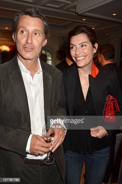 Director Antoine de Caunes and TV presenter Daphne Roulier attend the Grand Hotel Cap Ferrat Launch Cocktail at Hotel Vendome on May 30 2011 in Paris...