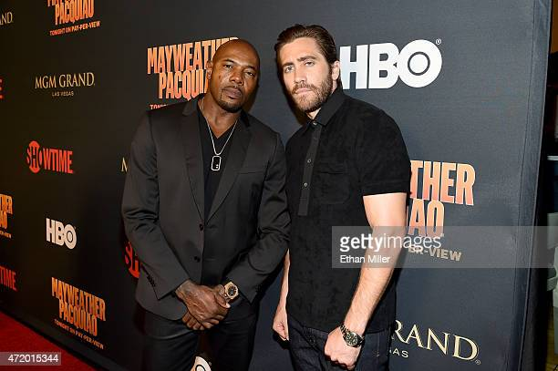 Director Antoine Fuqua and actor Jake Gyllenhaal attend the SHOWTIME And HBO VIP PreFight Party for Mayweather VS Pacquiao at MGM Grand Hotel Casino...