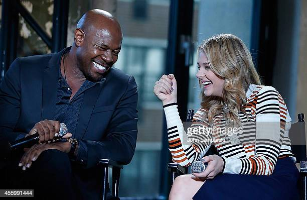 Director Antoine Fuqua and Chloe Grace Moretz speak at AOL's BUILD Speaker Series 'The Equalizer' at AOL Studios In New York on September 23 2014 in...