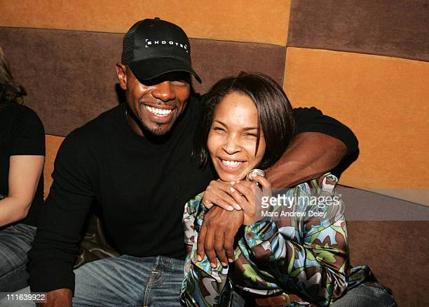 Director Antoine Fuqua and Free during Shooter Boston Premiere After Party at Felt Club Boston in Boston Massachusetts United States