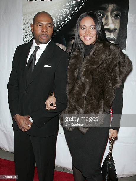 Director Antoine Fuqua and Lela Rochon attend the premiere of 'Brooklyn's Finest' at AMC Loews Lincoln Square 13 theater on March 2 2010 in New York...